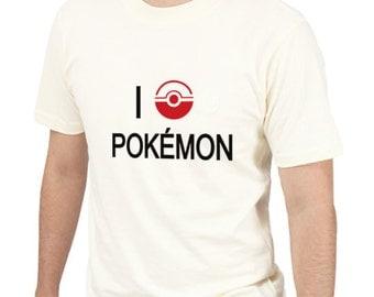 I Love pokemonTee Shirt