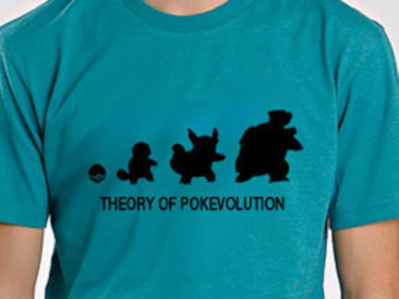 Reserved Listing for Amy Meyer Theory of  Pokevolution Squirtle Tee Shirt