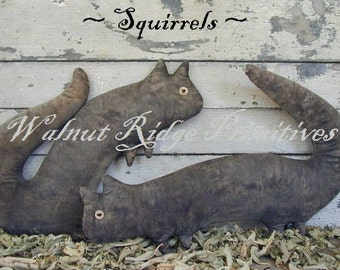 Primitive e-pattern, Instant Download, DIY Squirrels Pattern by Walnut Ridge Primitives