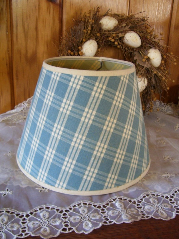 Vintage Country Style Lamp Shade Blue Amp By Thecountrylampshop