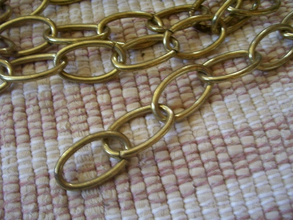"""Vintage 36"""" Brass Chain Hanging Lamps"""