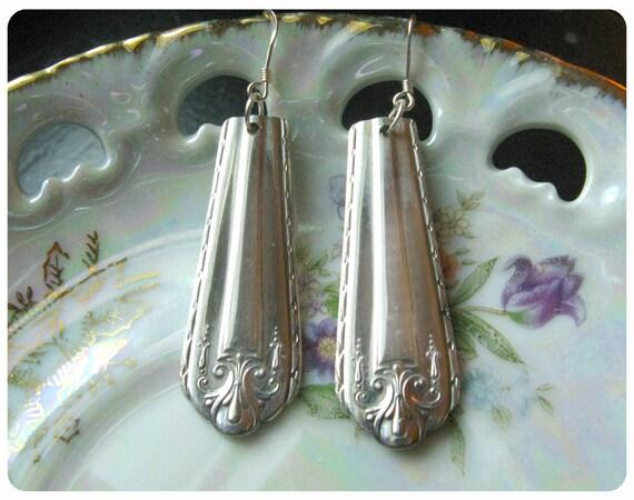 Sweet Dreams Spoon Earrings, Vintage, Bridesmaid Gift, Upcycled