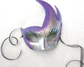 Gradient Purple and Silver Mask