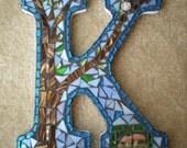 Woodland Mosaic Monogram Letter K