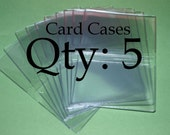 Clear Vinyl Business Card Debit Card Covers - 12 gauge - Qty 5