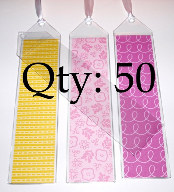 Clear Vinyl Bookmarks 8 inches - 8 gauge - Qty 50