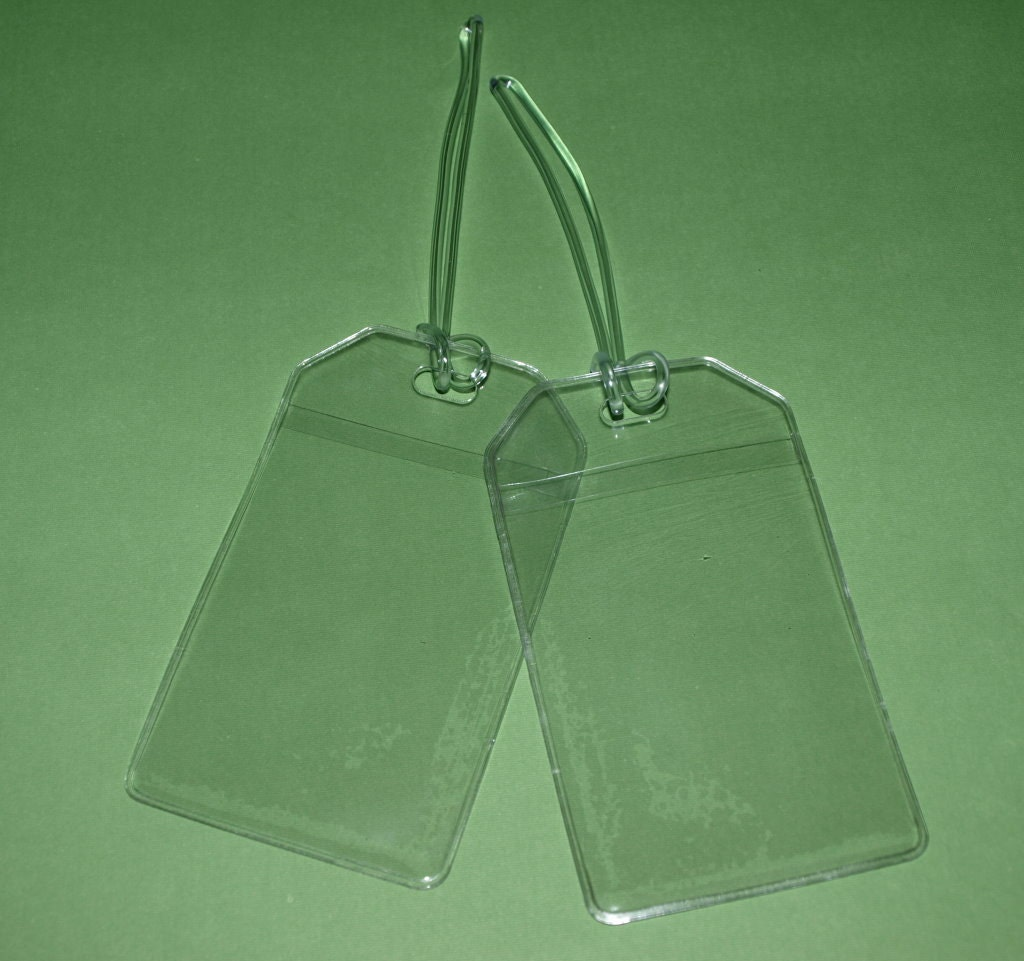 Clear Vinyl Luggage Tags And Worm Loops 12 Gauge Qty 25