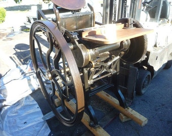 C&P 10X15 old style Letterpress Chandler and Price Printing Press