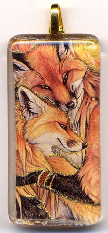 Fox Couple Pendant