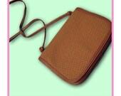 Vintage Retro Small Tan Long Strap Purse Shirl Miller