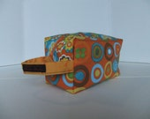 Orange Geometrics Box Bag - Medium Project Bag