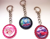 Reserved Listing for Joanna-3 Bottlecap Keychains