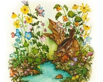 Childrens Room -  Wildlife Art Print