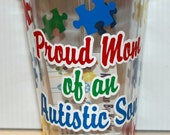 "16oz Autism Tumbler ""Proud Mom of Autistic Son"""