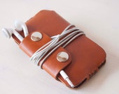 IPhone 5 case, IPhone 5 sleeve, IPod Touch case, IPhone 3 case, IPhone 4 case, IPhone 4S case - Brown leather sleeve