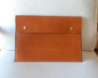 13 inch MacBook Air case, 13 inch MacBook Air sleeve, MacBook Air 13 case, MacBook Air 13 sleeve - brown leather