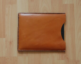 IPad case, IPad sleeve, IPad 3 sleeve, IPad 3 case, IPad 3 cover, IPad cover, leather IPad case, leather IPad sleeve - Brown leather