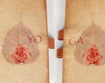 Free initials Yoga leather jornal