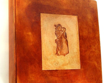 On sale kissing lovers leather bound photo album