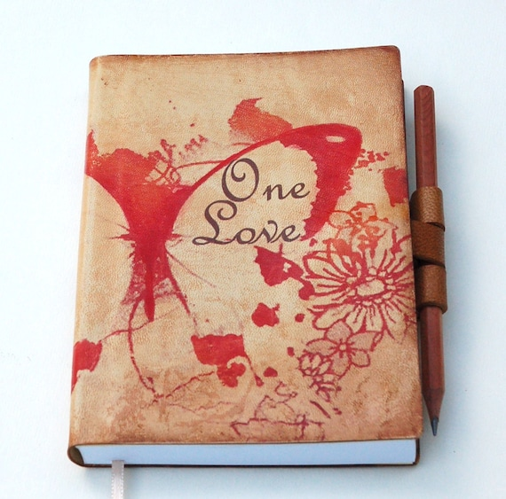 Free initials One Love leather journal