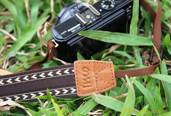 Coffee Heart camera strap