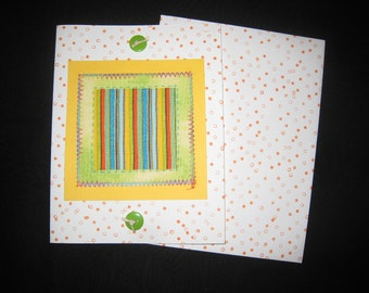 Striped Greeting Card