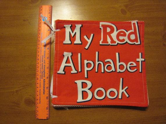 """Alphabet Soft Book """"My Red Alphabet Book"""""""