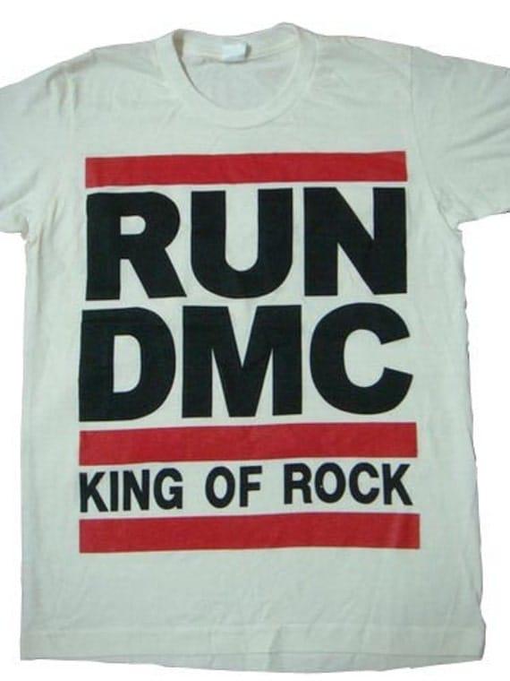 run dmc king of rock fashion rap hiphop shirt white by ...