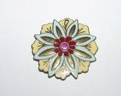 Colorful Flower Pendant