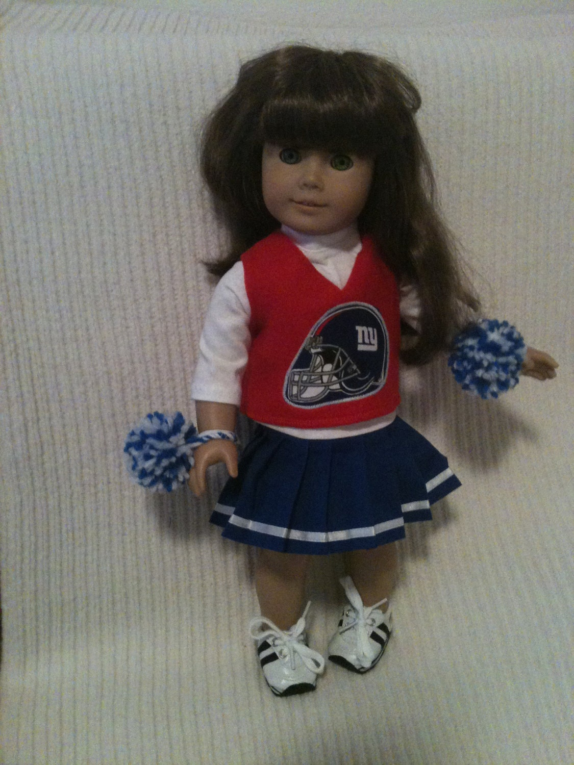 18 inch doll modeled by american girl new york giants. Black Bedroom Furniture Sets. Home Design Ideas