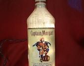 Captain Morgan Spiced Rum Lighted Liquor Bottle  Bar/Man Cave/Nightlight