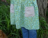 Vintage Green, Pink and Blue Calico Handmade Apron