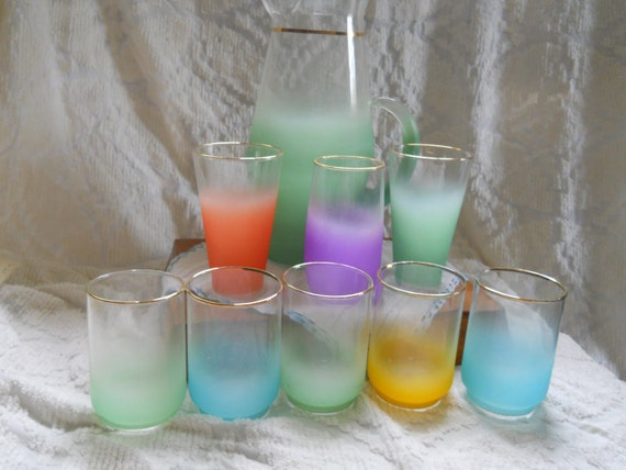 Blendo Frosted Pitcher and Glass Set