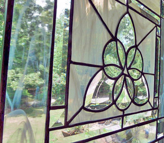 Stained Glass Panel Celtic Knot Trinity Tri-circle or