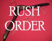 Bride Hanger RUSH ORDER Personalized Hanger for Wedding Dress 12 Wire Colors