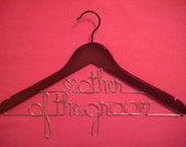 MOTHER of the GROOM Personalized Wedding Hanger