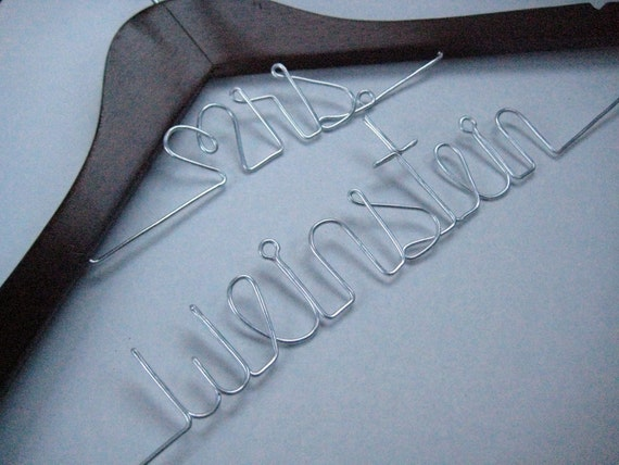 Long Last Name Personalized Wedding Hanger
