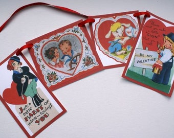 Vintage Sweethearts Valentine Banner Bunting