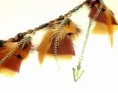 Feather Hair Clip // Tribal Inspired Arrowhead