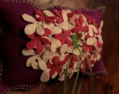 OOAK  Felt Handstitched RING BEARERS Wedding Pillow Special reg. 22.00 now 14.75