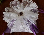 "Ring Bearer Wedding Pillow Vintage ""AMETHYST DREAM"" Special reg. 35.00 now 15.00"