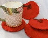 Cherry Coaster Set - MugMats Maraschino