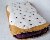 Felt Blueberry Toaster Pastry Cell Phone Case - Iphone