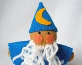 Felt Wizard Felt Finger Puppet, Hand Stitched Puppet, 3D Toy Storytelling Prop