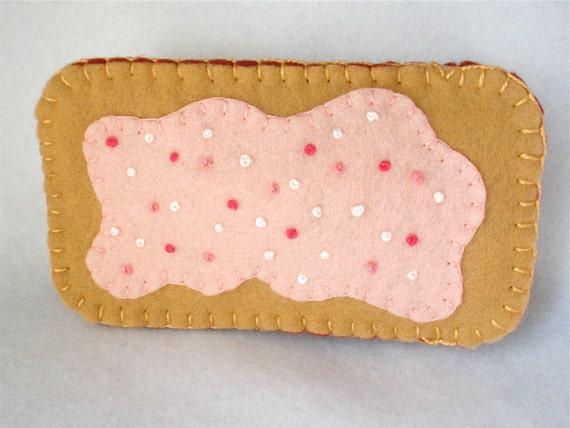 Felt Cell Phone Case - Strawberry PopTart