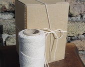 One Spool Cotton Thread -100 Yards - COTTON TWISTED CORD - Natural Color - Tie, Strap, Band, Lace, Rope, Twine