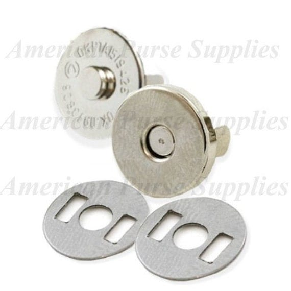 Magnetic Purse Snaps 18mm Silver Nickel FIFTY 50 SETS