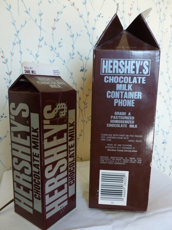 Hershey Phone Vintage Chocolate Milk Masterpiece, So Awesome,Original box and mounting bracket