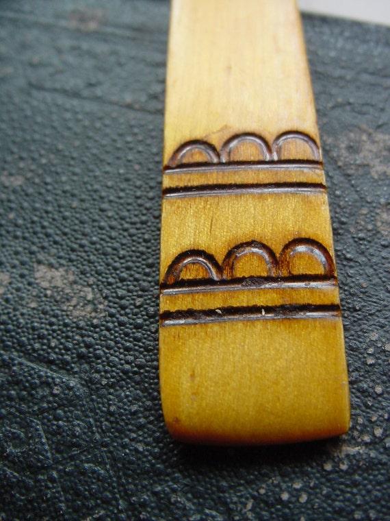 Gorgeous Antique - national ornament wood spoon - Vintage - Handmade