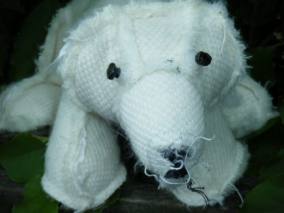 Polar Bear OUTSIDER Zombie. Watch out sharp eyes. Inside out stuffed Polar Bear. On sale was 25.00